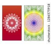 set of two template brochures ... | Shutterstock .eps vector #1286575918