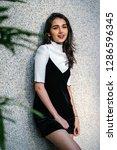 portrait of a young  elegant...   Shutterstock . vector #1286596345