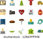 color flat icon set   easter... | Shutterstock .eps vector #1286599948