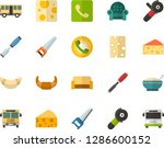 color flat icon set   cheese... | Shutterstock .eps vector #1286600152