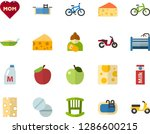 color flat icon set   mothers... | Shutterstock .eps vector #1286600215