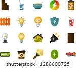 color flat icon set   lamp flat ... | Shutterstock .eps vector #1286600725