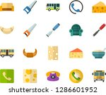 color flat icon set   cheese... | Shutterstock .eps vector #1286601952
