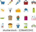 color flat icon set   cheese... | Shutterstock .eps vector #1286602342