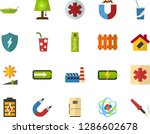 color flat icon set   atom flat ... | Shutterstock .eps vector #1286602678