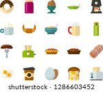 color flat icon set   hot tea... | Shutterstock .eps vector #1286603452