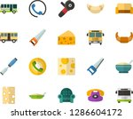 color flat icon set   cheese... | Shutterstock .eps vector #1286604172