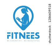women fitness and pin logo... | Shutterstock .eps vector #1286609518