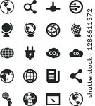 solid black vector icon set  ...   Shutterstock .eps vector #1286611372