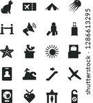 solid black vector icon set  ... | Shutterstock .eps vector #1286613295