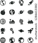 solid black vector icon set  ... | Shutterstock .eps vector #1286613382