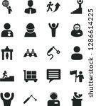 solid black vector icon set  ...   Shutterstock .eps vector #1286614225