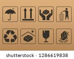 packaging symbol set. vector... | Shutterstock .eps vector #1286619838