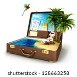 3d White People In A Suitcase...