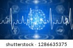 abstract background technology... | Shutterstock . vector #1286635375