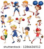 set of athlete character... | Shutterstock .eps vector #1286636512