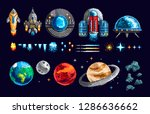 colorful pixel design of game... | Shutterstock . vector #1286636662