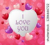 valentine's day background with ... | Shutterstock . vector #1286666722