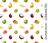 seamless pattern with fruits | Shutterstock . vector #1286666782