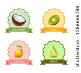 label for fruits | Shutterstock . vector #1286666788