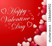 valentine's day background with ... | Shutterstock . vector #1286666902