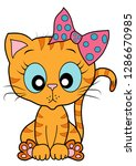 cute cat pet vector | Shutterstock .eps vector #1286670985