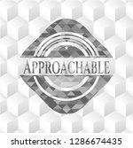 approachable grey badge with... | Shutterstock .eps vector #1286674435