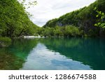 waterfalls at plitvice lakes... | Shutterstock . vector #1286674588