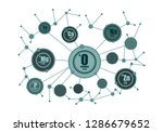 chemical elements connection.... | Shutterstock .eps vector #1286679652