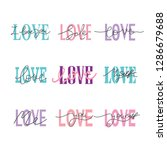 set vector of love hand drawn... | Shutterstock .eps vector #1286679688
