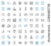 banking icons set. collection... | Shutterstock .eps vector #1286680738