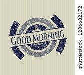 blue good morning rubber stamp... | Shutterstock .eps vector #1286682172
