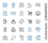 purchase icons set. collection... | Shutterstock .eps vector #1286683825