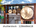 the sacred puja drums of lanna | Shutterstock . vector #1286686618