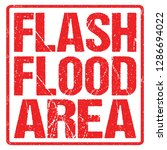 Flash Flood Area Sign Red...