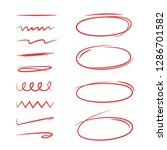 doodle oval marker elements and ...   Shutterstock .eps vector #1286701582