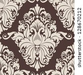 vector damask seamless pattern... | Shutterstock .eps vector #128670212