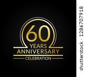 60 years anniversary logo. 60th ... | Shutterstock .eps vector #1286707918