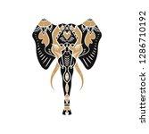 beautiful handdrawn elephant... | Shutterstock .eps vector #1286710192