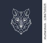 alchemy symbol. polar white... | Shutterstock .eps vector #1286710225