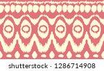 ikat seamless pattern. vector... | Shutterstock .eps vector #1286714908