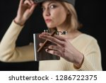 time to enjoy. cigar and hip... | Shutterstock . vector #1286722375