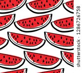 vector seamless pattern with... | Shutterstock .eps vector #1286726758