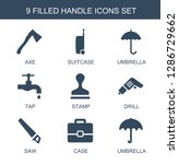 9 handle icons. trendy handle... | Shutterstock .eps vector #1286729662