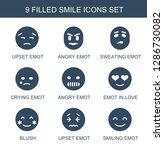smile icons. trendy 9 smile... | Shutterstock .eps vector #1286730082