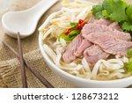 pho bo   vietnamese fresh rice... | Shutterstock . vector #128673212