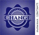 change jean or denim emblem or... | Shutterstock .eps vector #1286736475