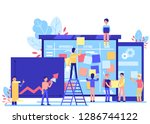 scrum task board   big agile... | Shutterstock . vector #1286744122