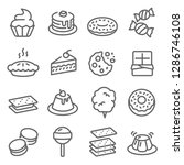 dessert vector line icon set....   Shutterstock .eps vector #1286746108
