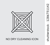 no dry cleaning icon . editable ... | Shutterstock .eps vector #1286751142